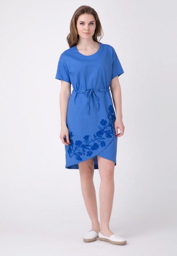 женское повседневные платье ricamare, голубое