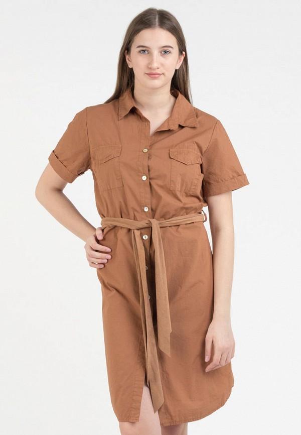 Фото - Женское платье Intrico коричневого цвета