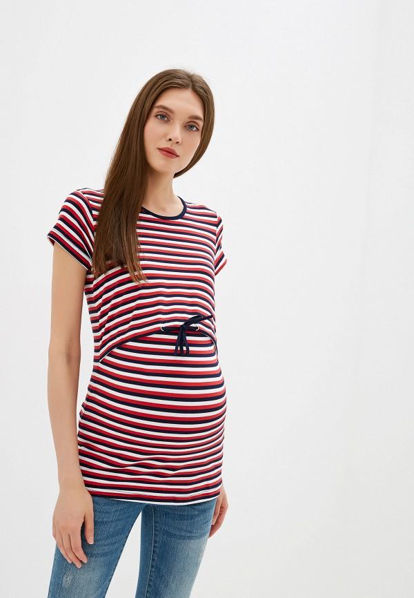 женская футболка budumamoy, разноцветная