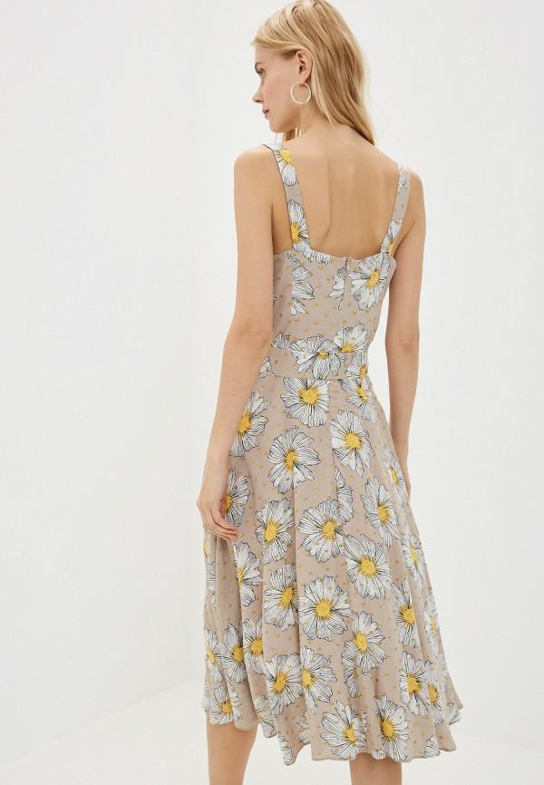 Фото 3 - Женское платье Joymiss бежевого цвета