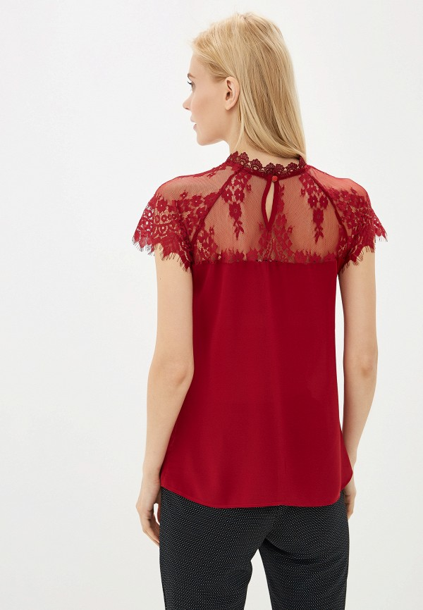 Блуза Avemod цвет бордовый  Фото 3