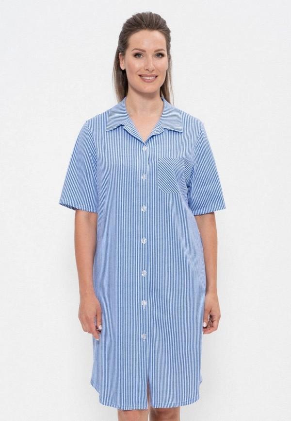 женское платье cleo, голубое