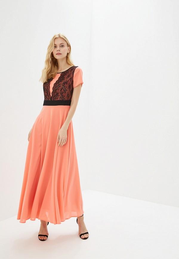 Платье GSFR цвет коралловый