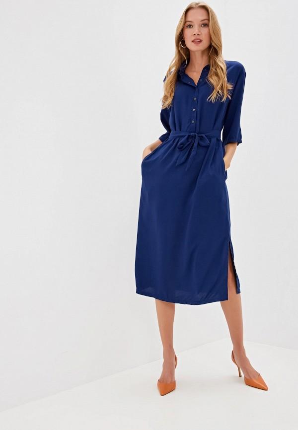 Фото 2 - Женское платье Tantino синего цвета