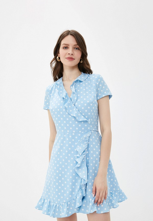 женское платье self made, голубое