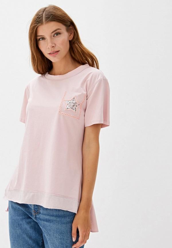 женская футболка pavli, розовая