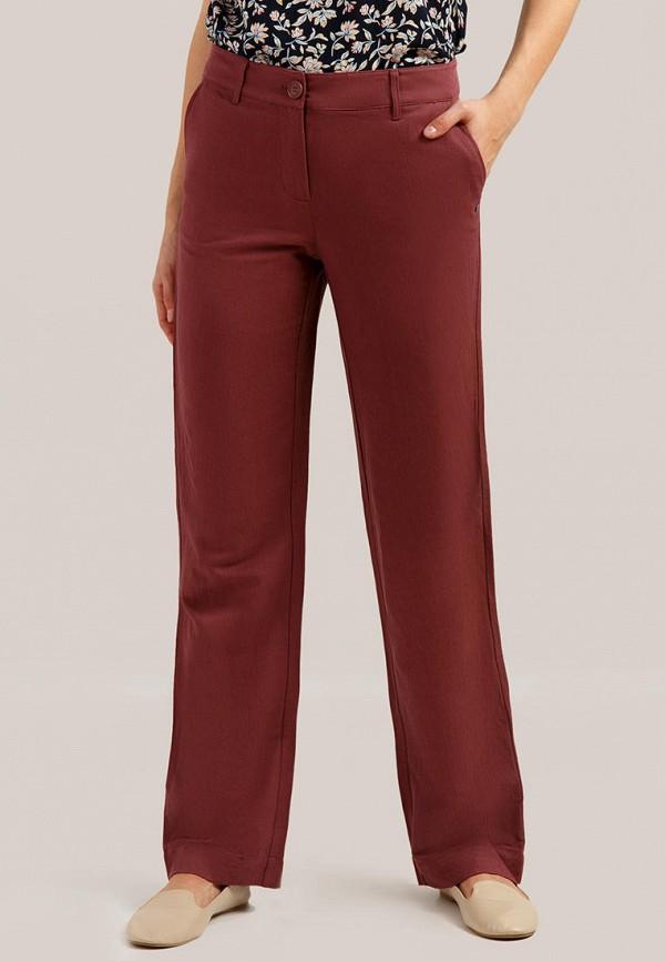 женские повседневные брюки finn flare, бордовые