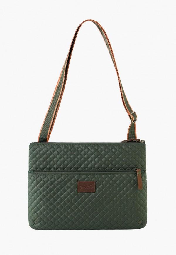 женская сумка exodus, зеленая