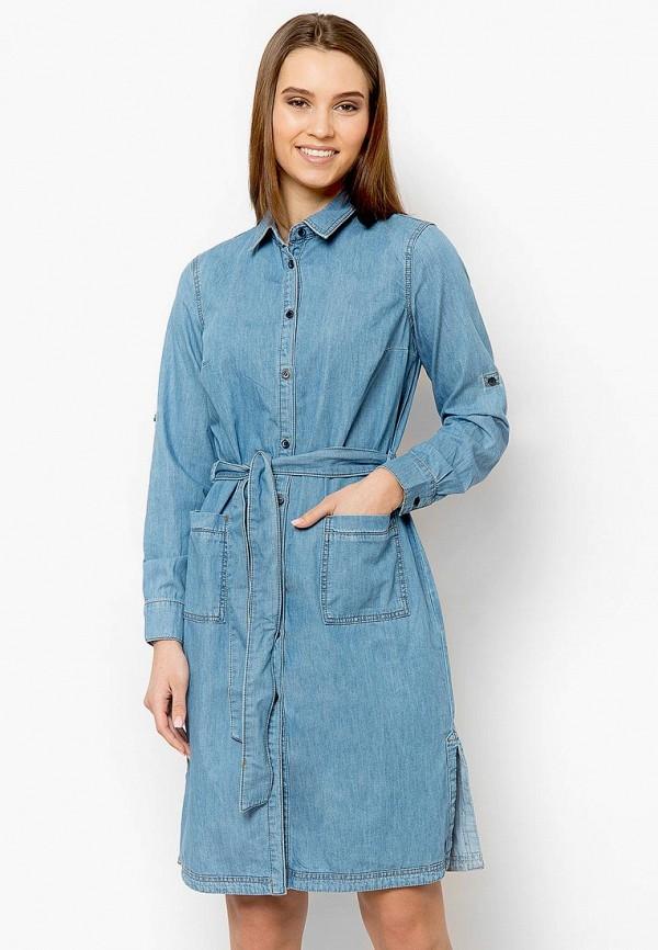Купить Платье джинсовое Finn Flare, MP002XW0IWZU, голубой, Весна-лето 2018