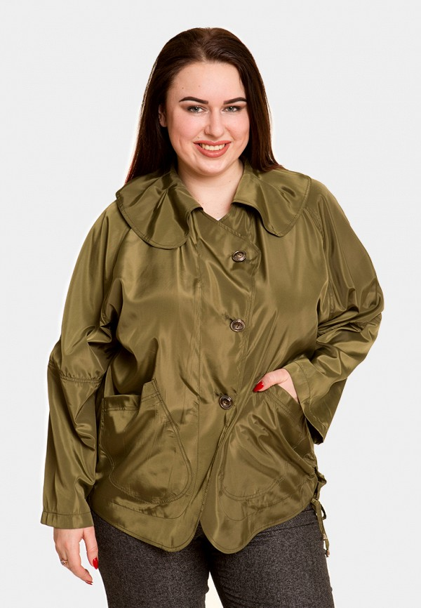 женская куртка luxury plus, хаки