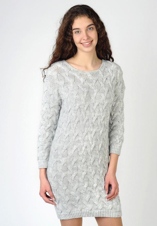 Фото - Женское вязаное платье Intrico серого цвета