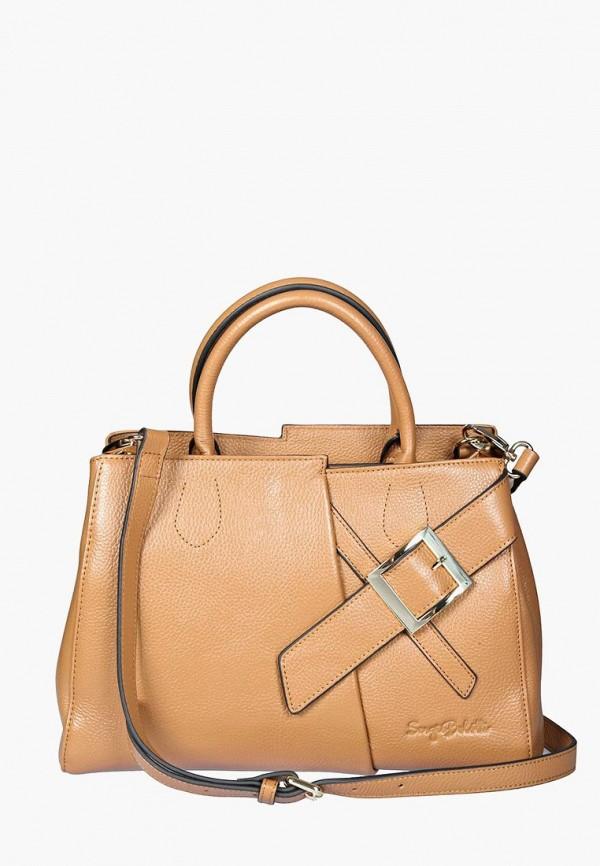 женская сумка sergio belotti, бежевая