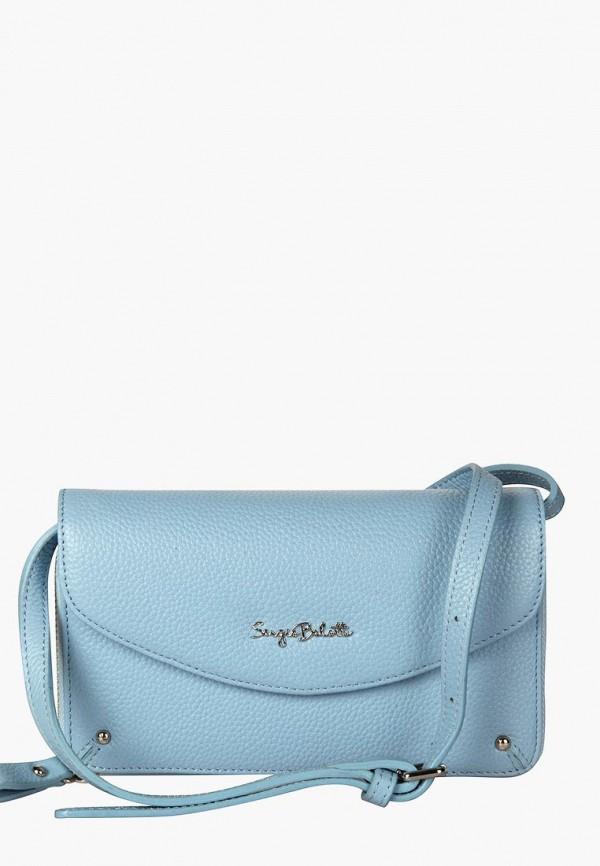 женская сумка sergio belotti, голубая