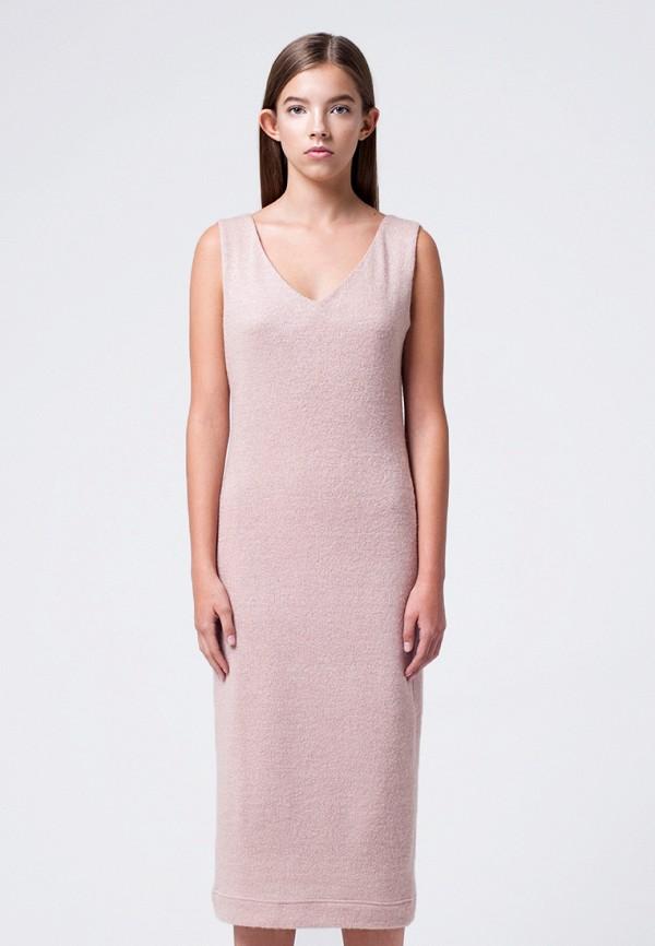 женское повседневные платье minimally, розовое