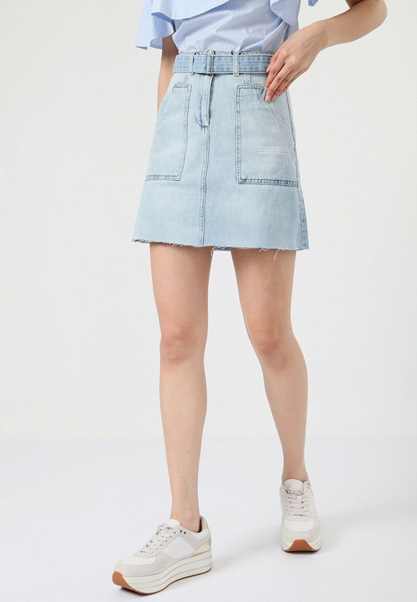 Купить Юбка джинсовая LIME, MP002XW0IY35, голубой, Весна-лето 2018