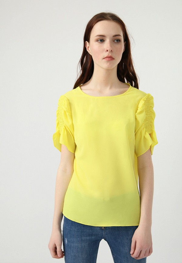 Купить Блуза Lime, MP002XW0IY4P, желтый, Весна-лето 2018