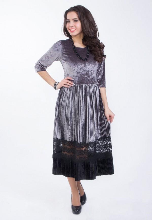 Купить женское вечернее платье Wisell серого цвета