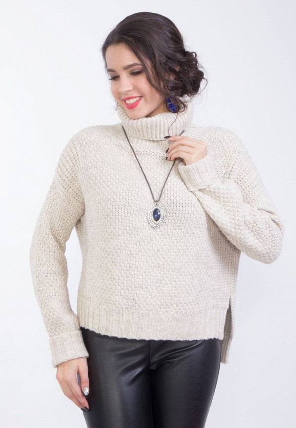 Купить женский свитер Wisell бежевого цвета