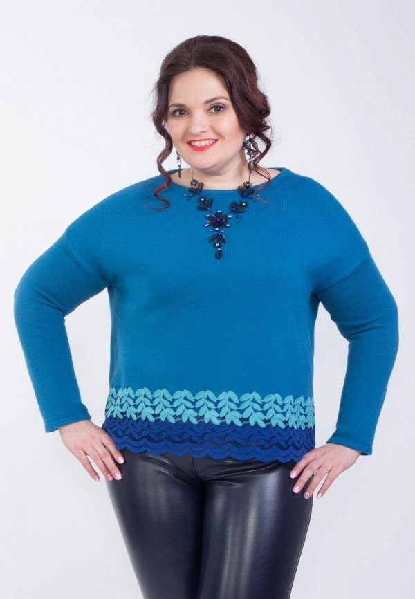 Купить женский джемпер Wisell синего цвета