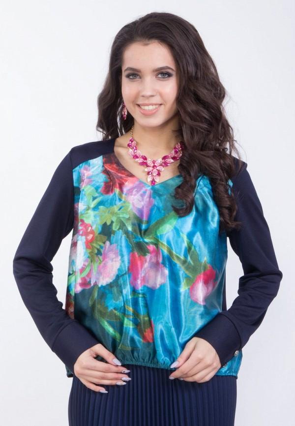 женская блузка wisell, синяя