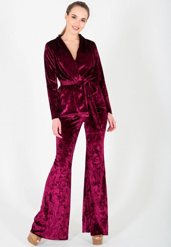 женский костюм malaeva, бордовый