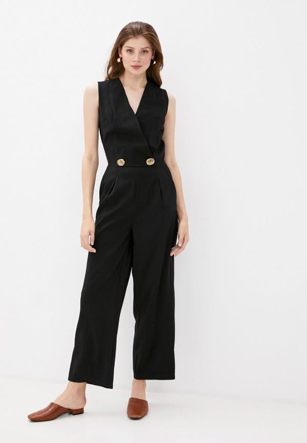 женский комбинезон с брюками incity, черный