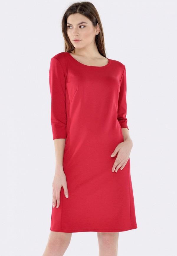 женское повседневные платье cat orange, красное