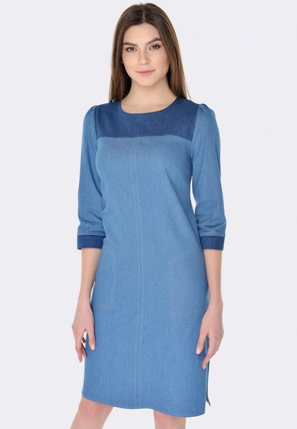 женское джинсовые платье cat orange, голубое