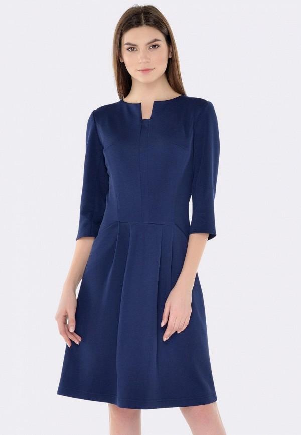 женское повседневные платье cat orange, синее