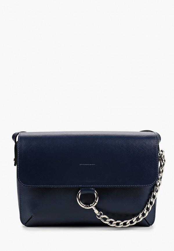 женская сумка через плечо afina, синяя