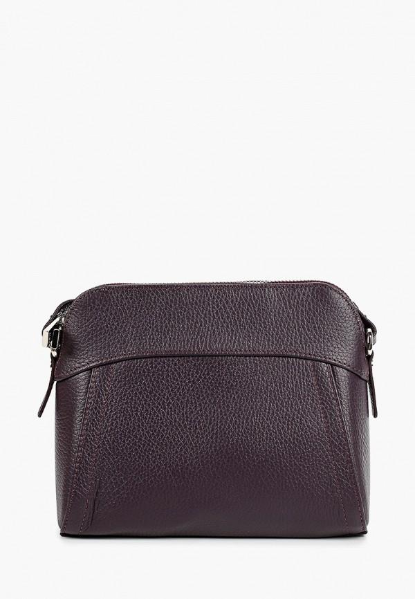 женская сумка через плечо afina, фиолетовая