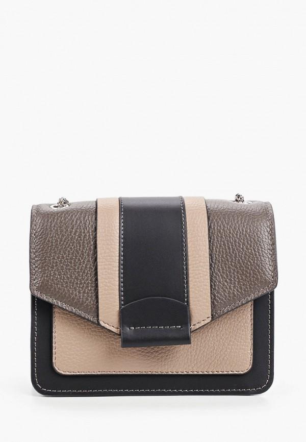 женская сумка через плечо afina, коричневая