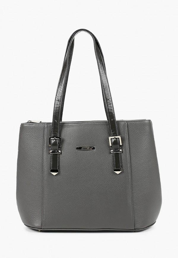 женская сумка с ручками afina, серая