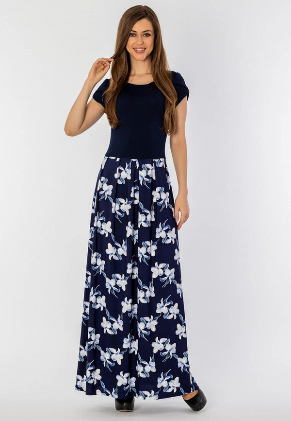 женское платье макси s&a style, синее