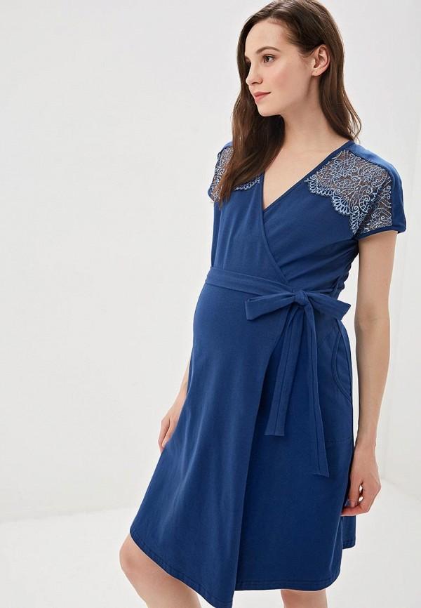 женский халат hunny mammy, синий