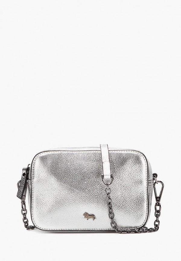 женская сумка через плечо labbra, серебряная