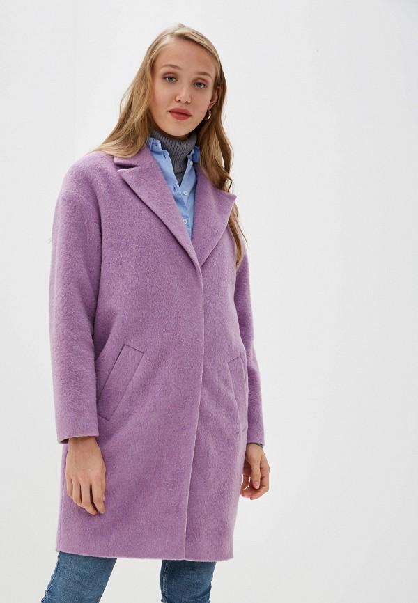 женское пальто la reine blanche, фиолетовое