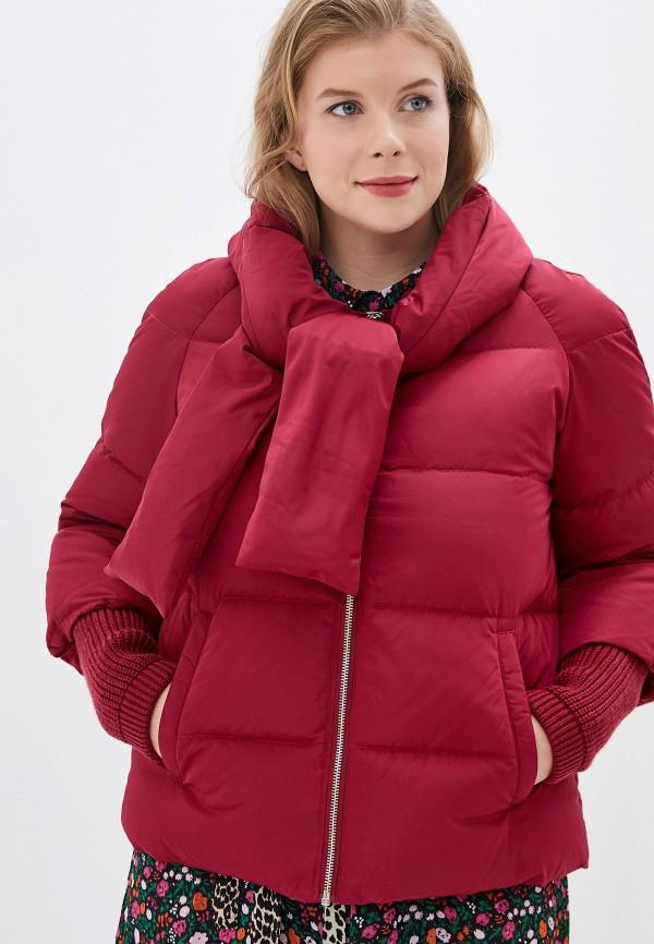 женская куртка acasta, бордовая