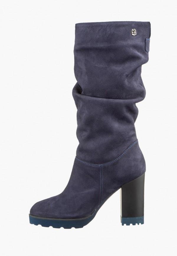 женские сапоги casual, фиолетовые