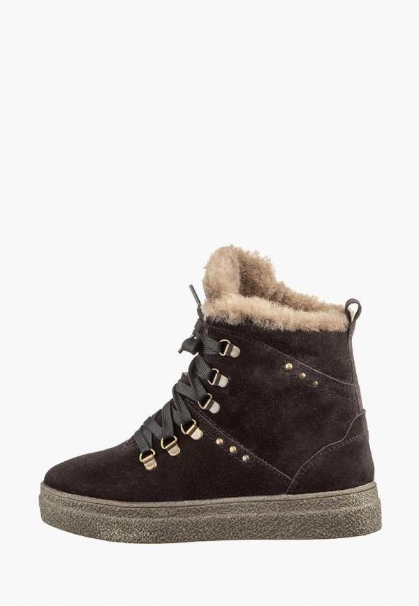 женские ботинки casual, коричневые