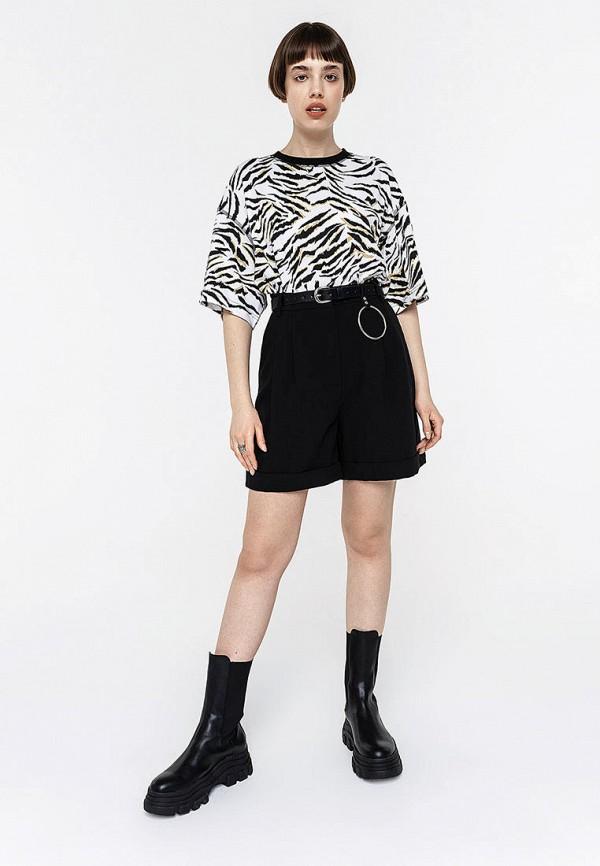 Фото 2 - Женские шорты Befree черного цвета
