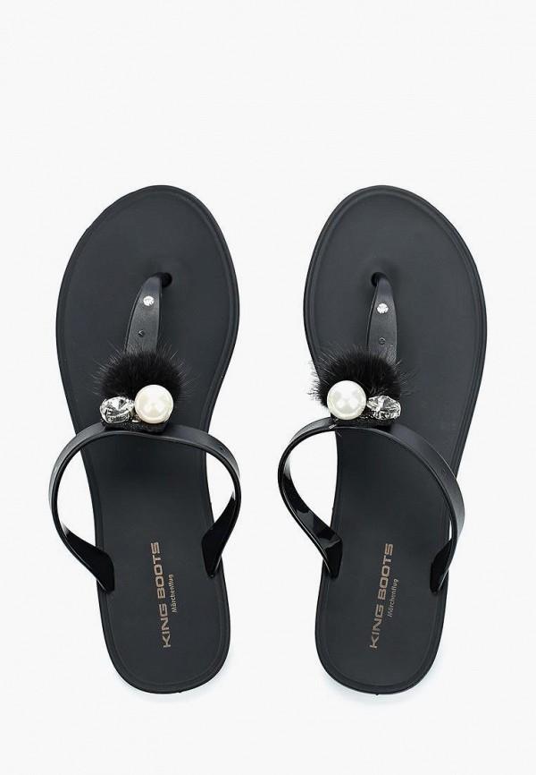 Сланцы King Boots цвет черный  Фото 3