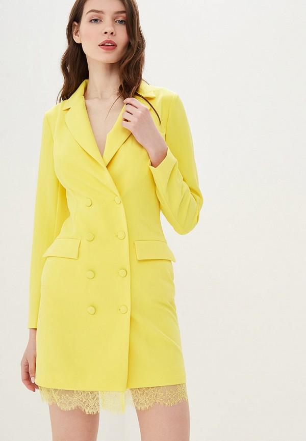 женское платье self made, желтое