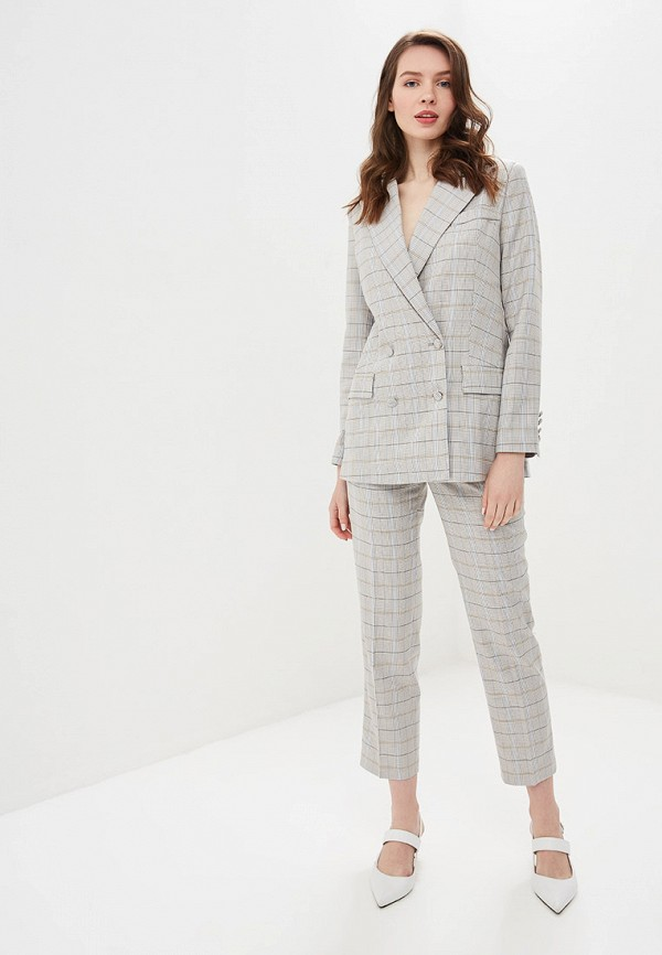женский костюм self made, серый
