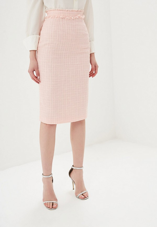 женская зауженные юбка self made, розовая