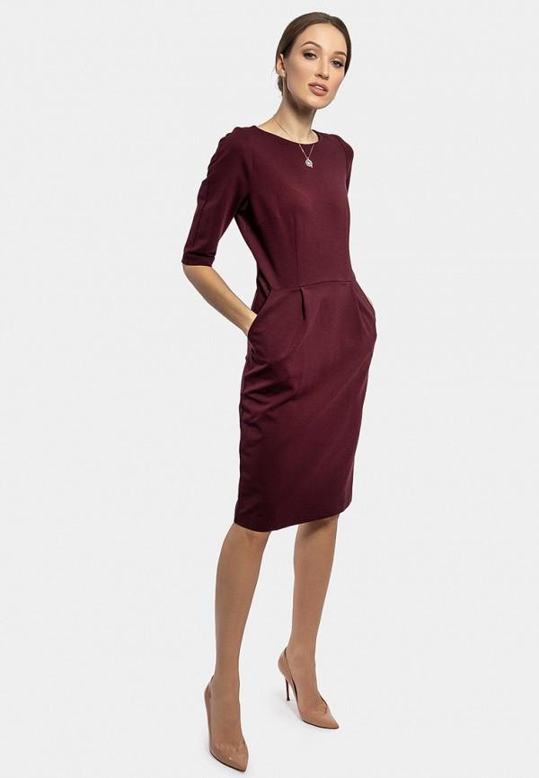 Фото 2 - Женское платье Vladi Collection бордового цвета