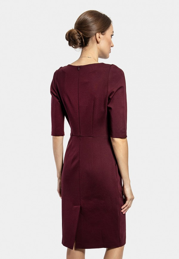 Фото 3 - Женское платье Vladi Collection бордового цвета
