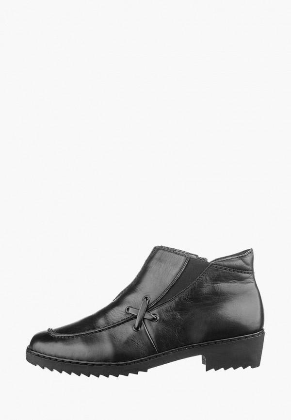 женские ботинки rieker, черные