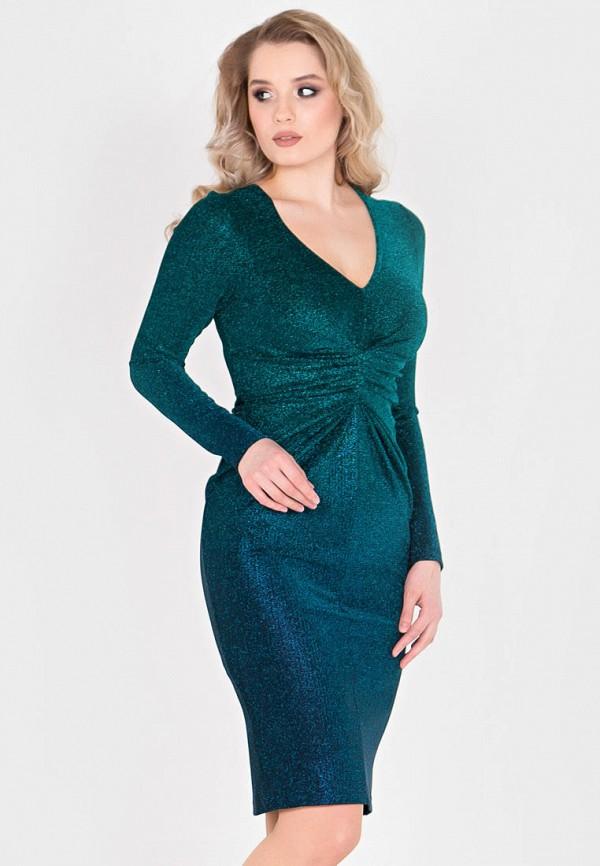 Фото - Женское вечернее платье Filigrana зеленого цвета