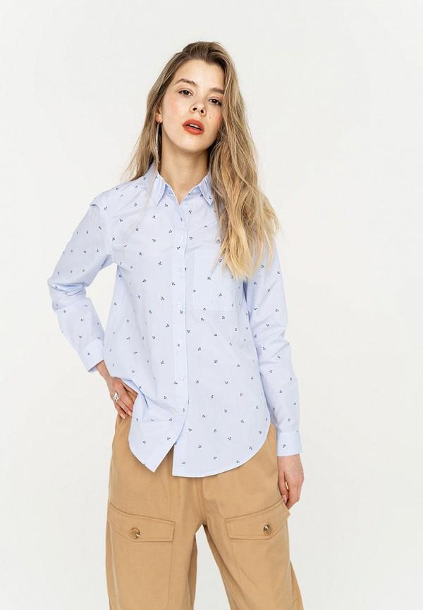 Фото - Женскую блузку Befree голубого цвета